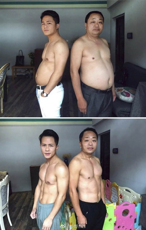 father and son decide to get in shape together 9 Father and Son Decide to Get in Shape Together (9 Pics)