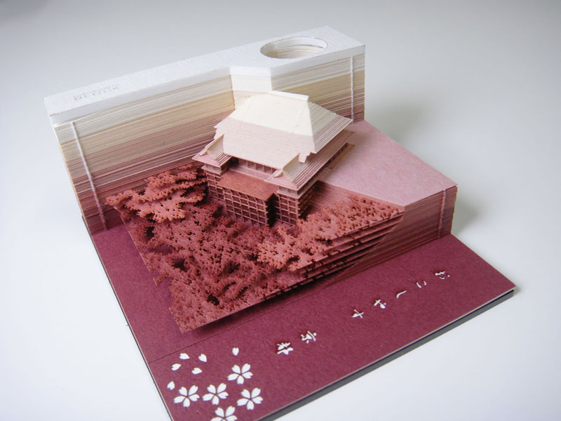 laser cut notepad slowly reveals artwork as it gets used 4 Laser Cut Notepads That Slowly Reveal Artworks As They Get Used