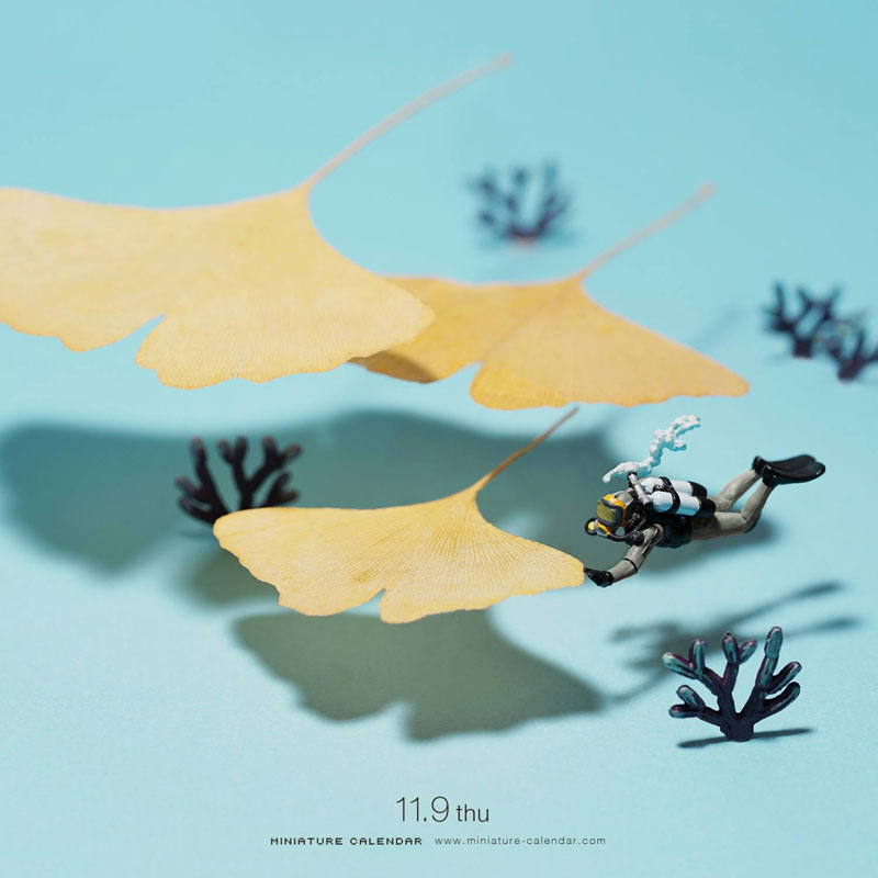 miniature calendar by tatsuya tanaka 1 This Artist Has Created a Miniature Scene Every Single Day Since 2011