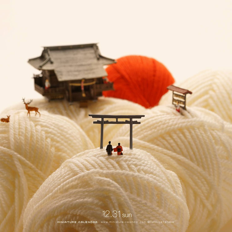 miniature calendar by tatsuya tanaka 11 This Artist Has Created a Miniature Scene Every Single Day Since 2011