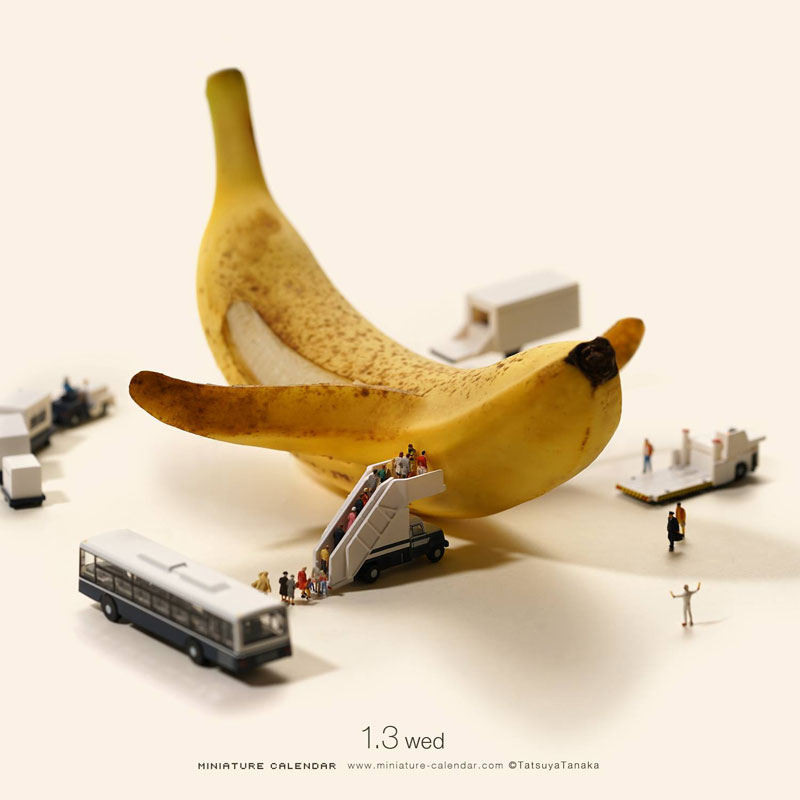 miniature calendar by tatsuya tanaka 12 This Artist Has Created a Miniature Scene Every Single Day Since 2011