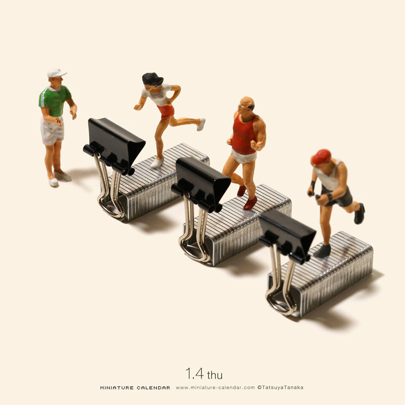 miniature calendar by tatsuya tanaka 15 This Artist Has Created a Miniature Scene Every Single Day Since 2011