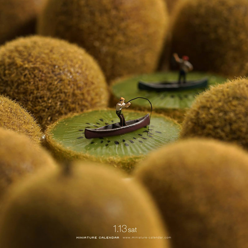 miniature calendar by tatsuya tanaka 19 This Artist Has Created a Miniature Scene Every Single Day Since 2011