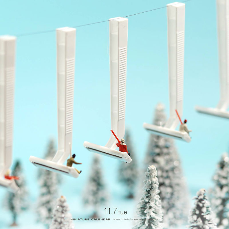 miniature calendar by tatsuya tanaka 2 This Artist Has Created a Miniature Scene Every Single Day Since 2011