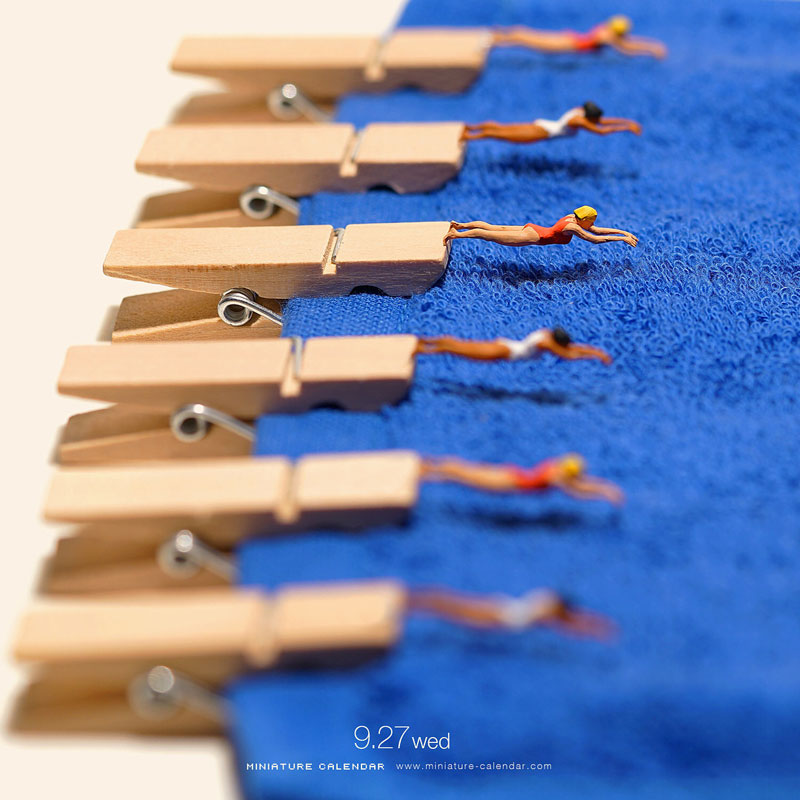 miniature calendar by tatsuya tanaka 26 This Artist Has Created a Miniature Scene Every Single Day Since 2011
