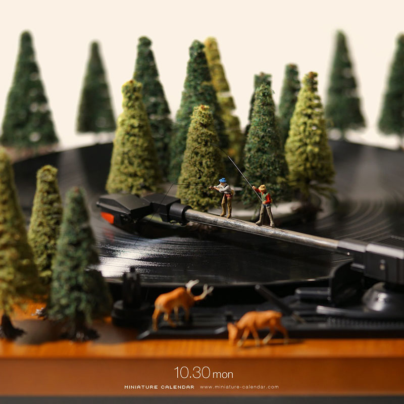 miniature calendar by tatsuya tanaka 32 This Artist Has Created a Miniature Scene Every Single Day Since 2011