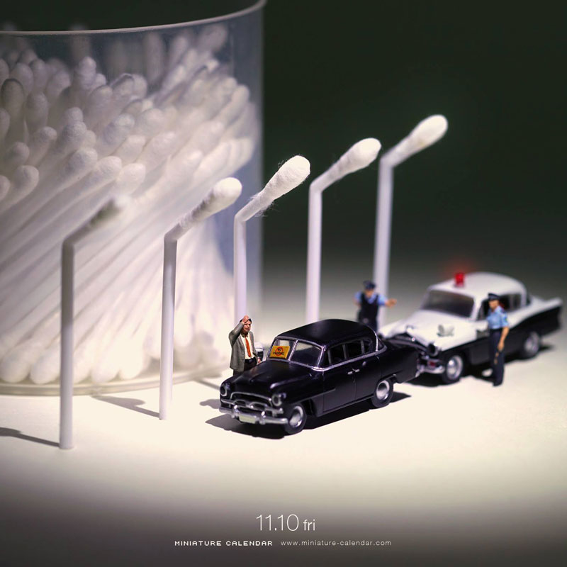 miniature calendar by tatsuya tanaka 4 This Artist Has Created a Miniature Scene Every Single Day Since 2011