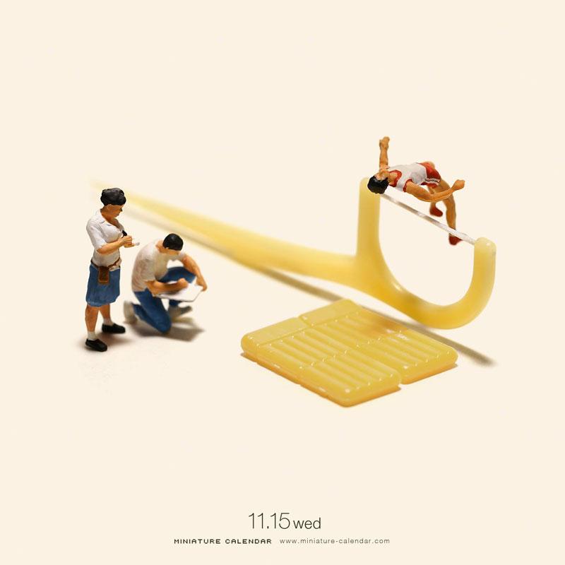 Miniature Calendar.This Artist Has Created A Miniature Scene Every Single Day Since