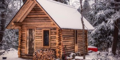 One Man Log Cabin Timelapse