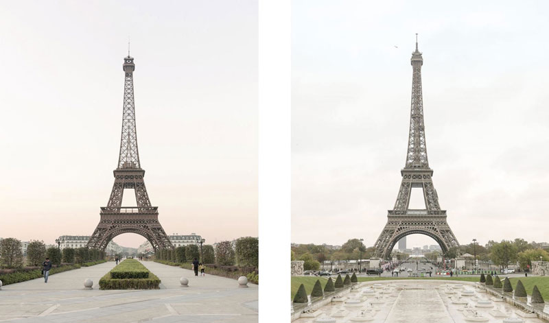There's a Fake Paris in China and the Side by Side Photos are Eerie