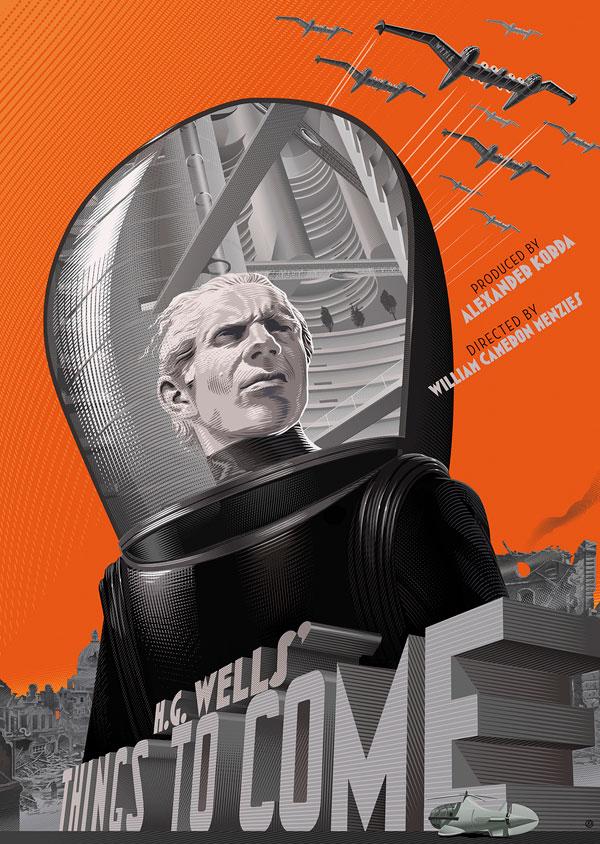 retro futuristic movie posters by lauren durieux 15 The Retro Futuristic Movie Posters of Laurent Durieux (15 Pics)