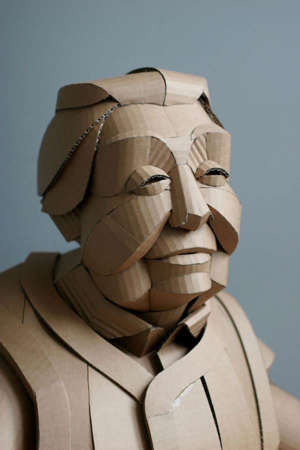 warren king cardboard sculptures 3 Artist Recreates People from Grandparents Village as Life Size Cardboard Sculptures