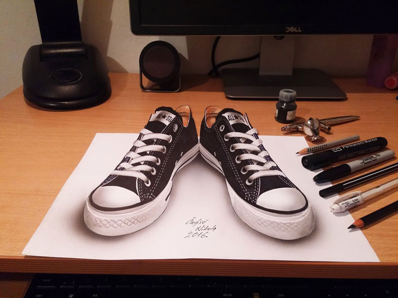 3d drawings by nikola culjiic 1 Amazing 3D Drawings that Seem to Leap Off the Page