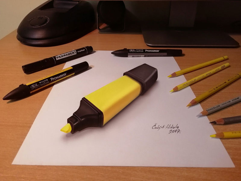 3d drawings by nikola culjiic 7 Amazing 3D Drawings that Seem to Leap Off the Page