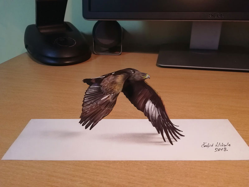 3d drawings by nikola culjiic 9 Amazing 3D Drawings that Seem to Leap Off the Page