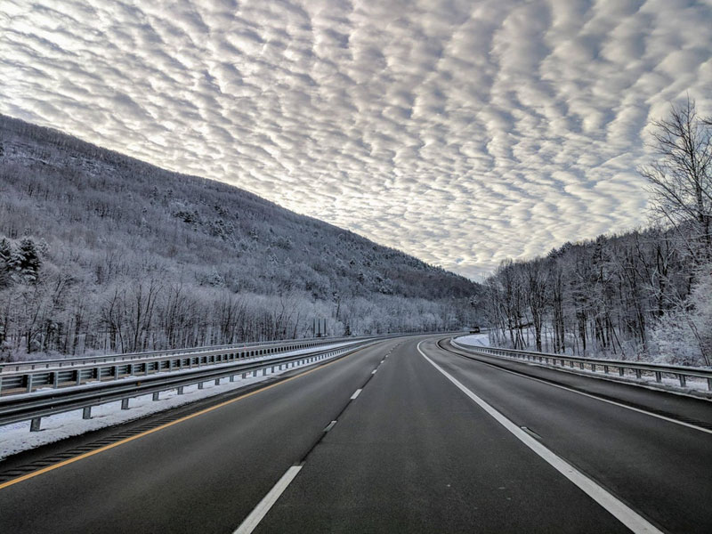 amazing clouds on the i 90 in the berkshire mountains ma 1 Amazing Clouds on the I 90 in the Berkshire Mountains, MA