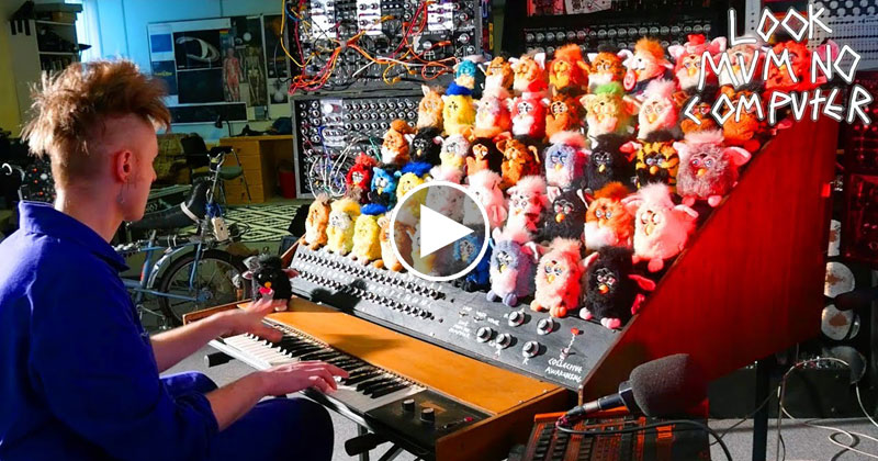 Guy Makes Crazy Furby Organ, Accidentally Opens Gates to Hell