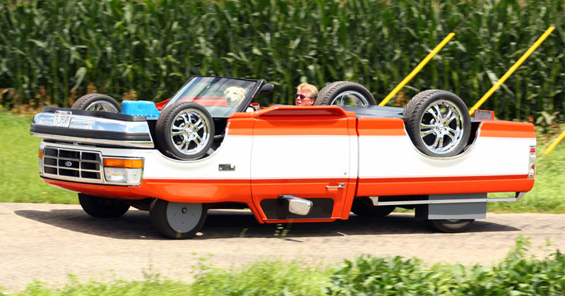 Guy Builds Street Legal Upside Down Truck for$6,000