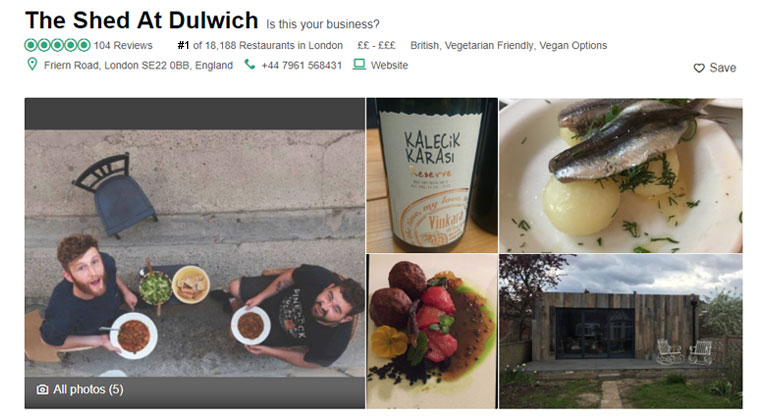 Guy Gets Fake London Restaurant to the #1 Spot on TripAdvisor and Opens for a Night