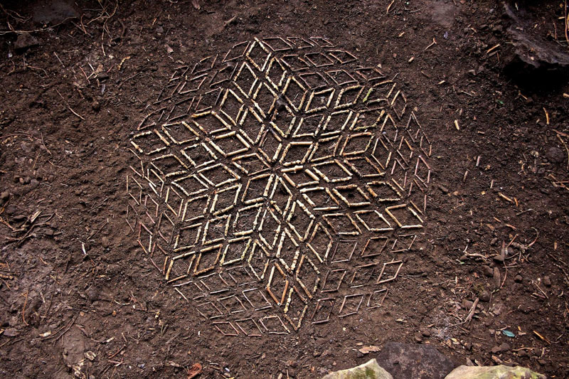 Artist Arranges Natural Objects Into Ephemeral Patterns And Designs Enchanting Patterns And Designs
