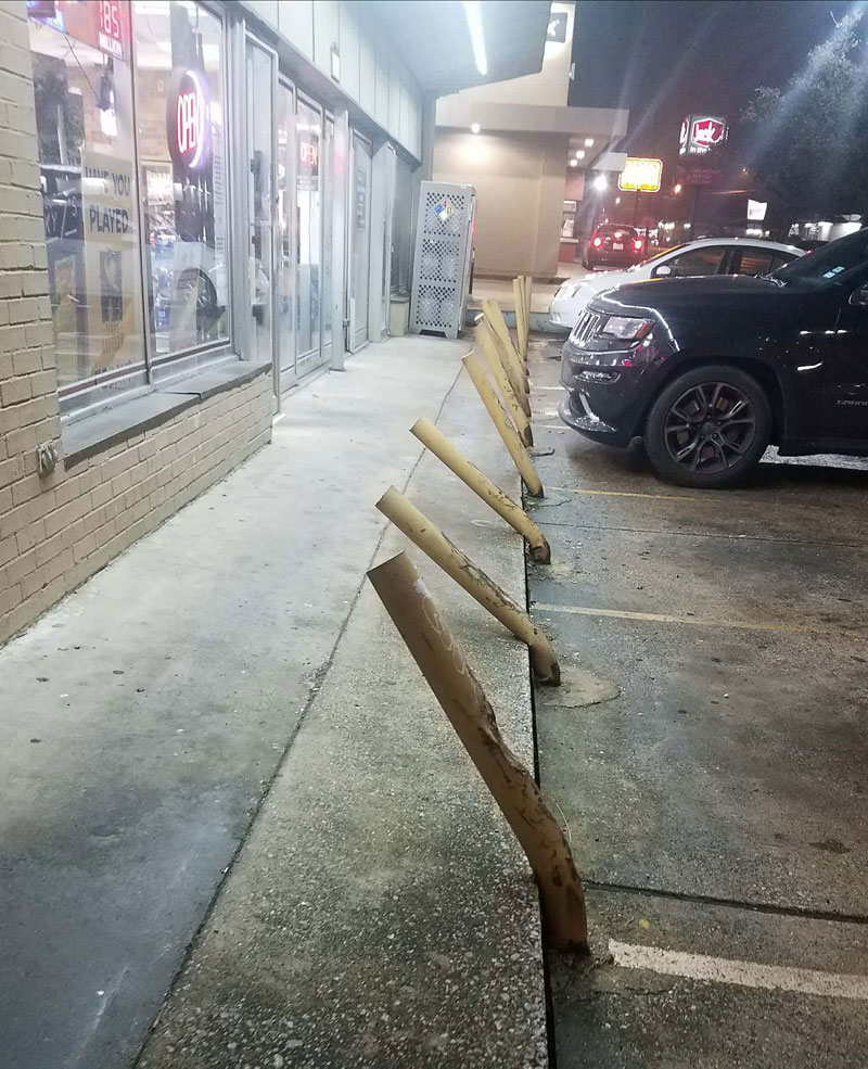 The Parking In Front Of A Liquor Store And Laser Eye