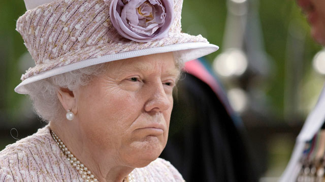 photoshopping trumps face onto the queens 19 This Woman Cant Stop Photoshopping Trumps Face Onto the Queens (Top 50)