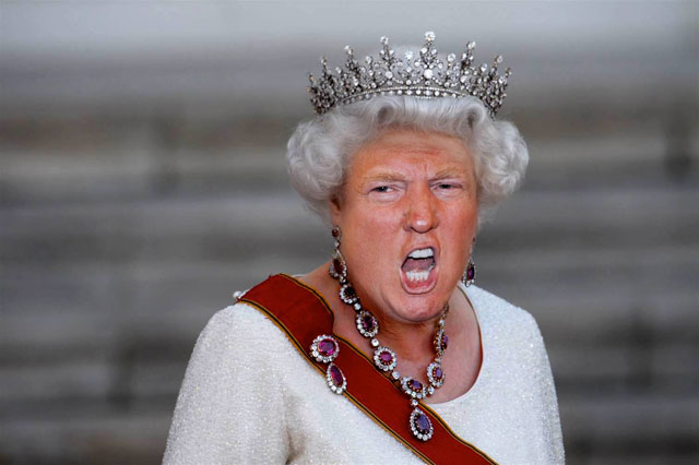 photoshopping trumps face onto the queens 22 This Woman Cant Stop Photoshopping Trumps Face Onto the Queens (Top 50)