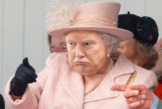 photoshopping trumps face onto the queens 26 This Woman Cant Stop Photoshopping Trumps Face Onto the Queens (Top 50)