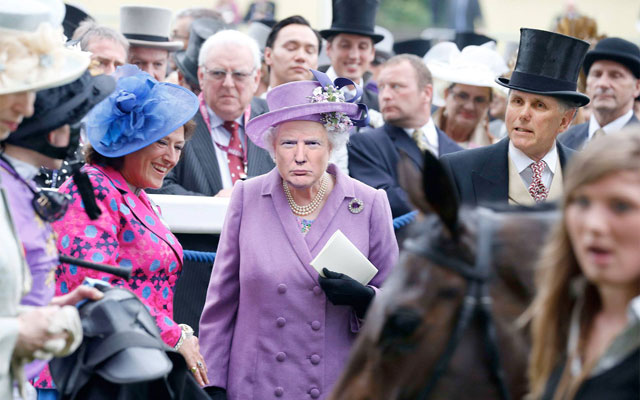 photoshopping trumps face onto the queens 33 This Woman Cant Stop Photoshopping Trumps Face Onto the Queens (Top 50)