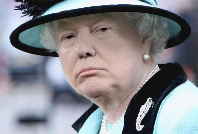 photoshopping trumps face onto the queens 36 This Woman Cant Stop Photoshopping Trumps Face Onto the Queens (Top 50)