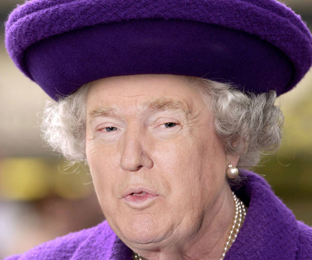 photoshopping trumps face onto the queens 38 This Woman Cant Stop Photoshopping Trumps Face Onto the Queens (Top 50)