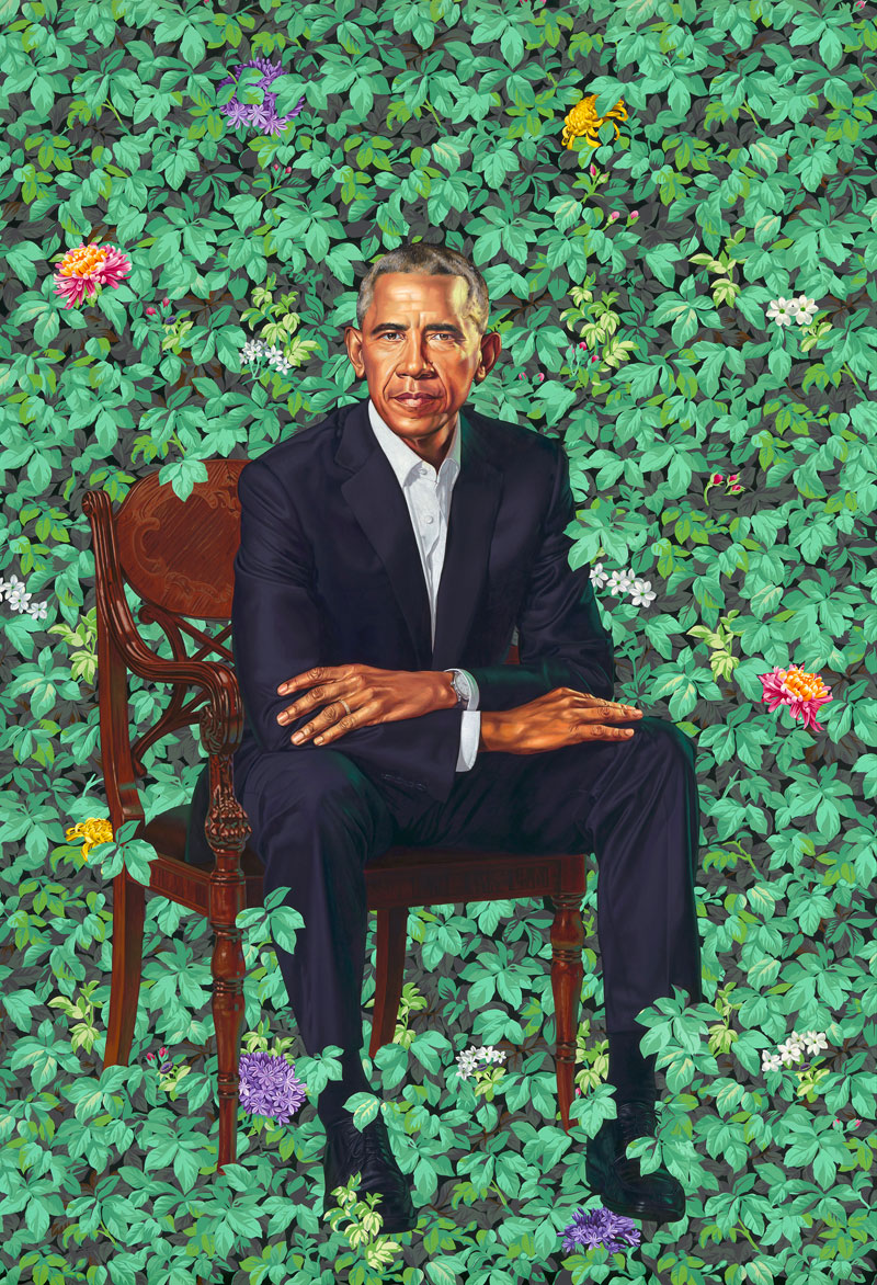 portrait of president barack obama by kehinde wiley The Internet Had a Field Day With Obamas Official Portrait