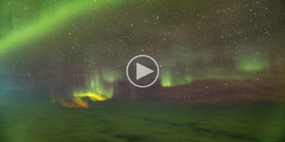 When You See the Northern Lights on Your Flight to Iceland to See.. the Northern Lights