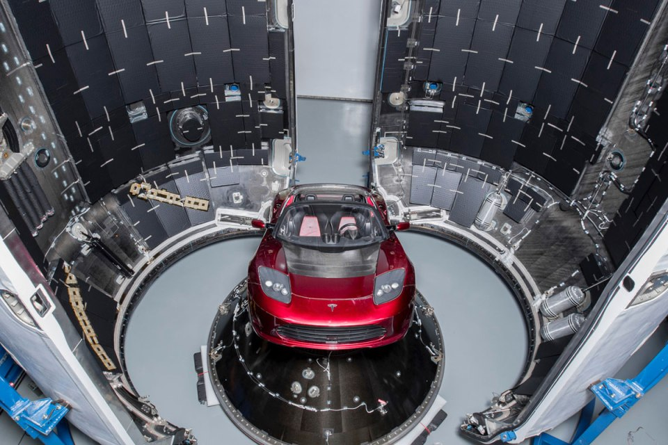 spacex falcon heavy launch tesla to mars 11 SpaceX Just Launched the Worlds Most Powerful Rocket and Sent a Tesla to Mars