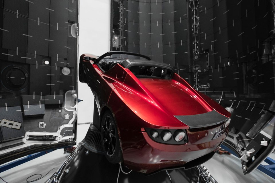 spacex falcon heavy launch tesla to mars 12 SpaceX Just Launched the Worlds Most Powerful Rocket and Sent a Tesla to Mars