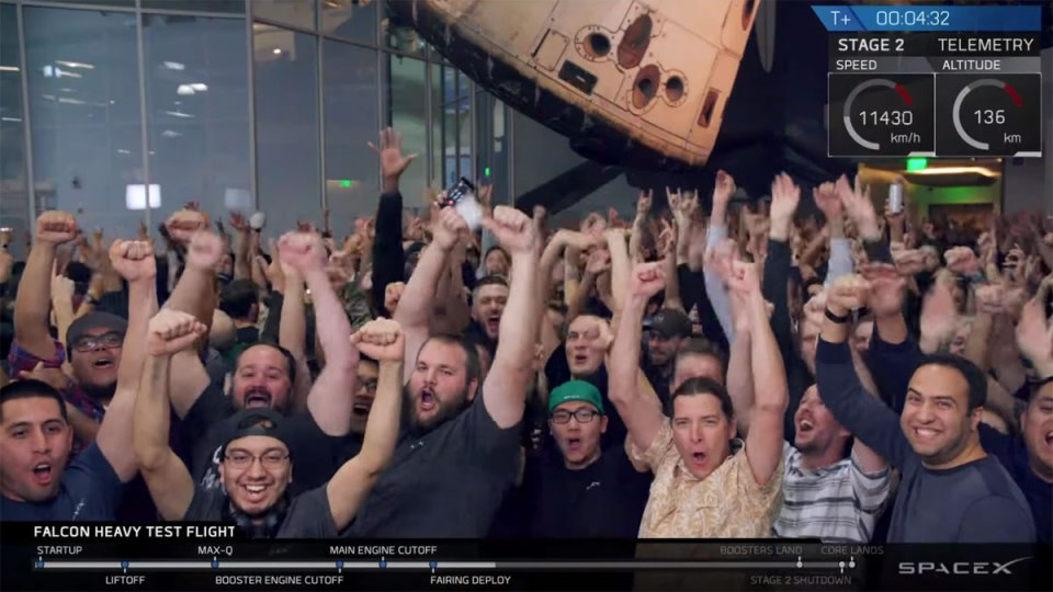 spacex falcon heavy launch tesla to mars 13 SpaceX Just Launched the Worlds Most Powerful Rocket and Sent a Tesla to Mars