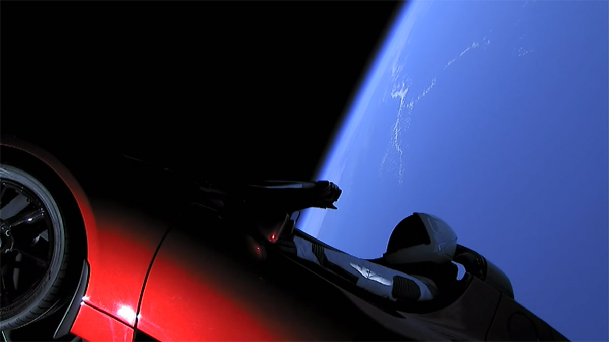 spacex falcon heavy launch tesla to mars 17 SpaceX Just Launched the Worlds Most Powerful Rocket and Sent a Tesla to Mars