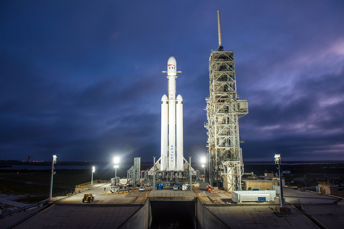 spacex falcon heavy launch tesla to mars 3 SpaceX Just Launched the Worlds Most Powerful Rocket and Sent a Tesla to Mars