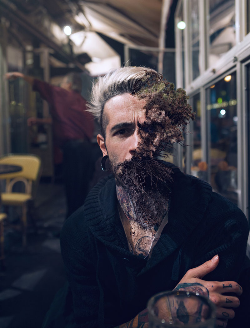 treebeard by cal redback 2 7 Surreal Portraits of Plants Taking Over Faces