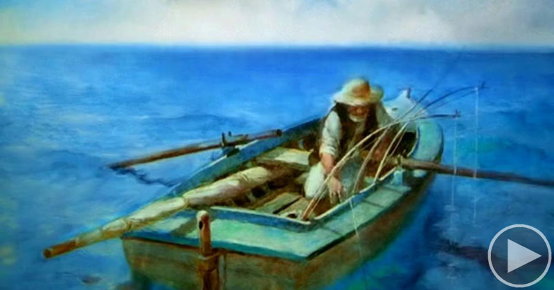 Quote From Old Man And The Sea: This Hand Painted Oscar Winning Short Is One Of The Most