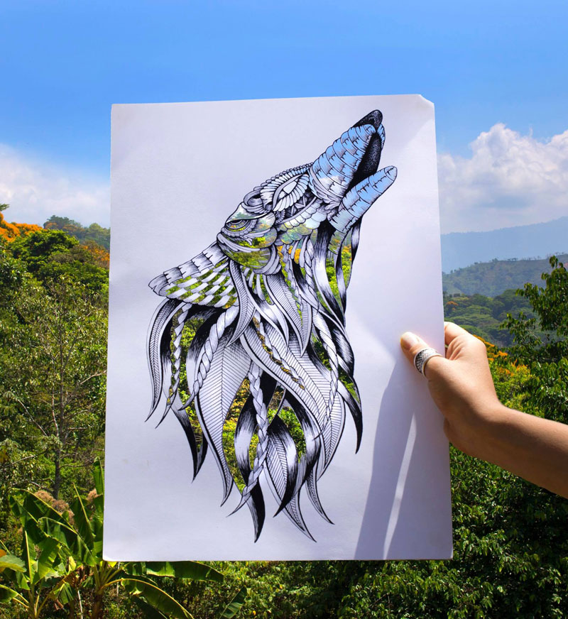 faye halliday cutouts filled in by nature 1 Artist Makes Intricate Animal Cutouts and Lets Nature Fill in the Rest
