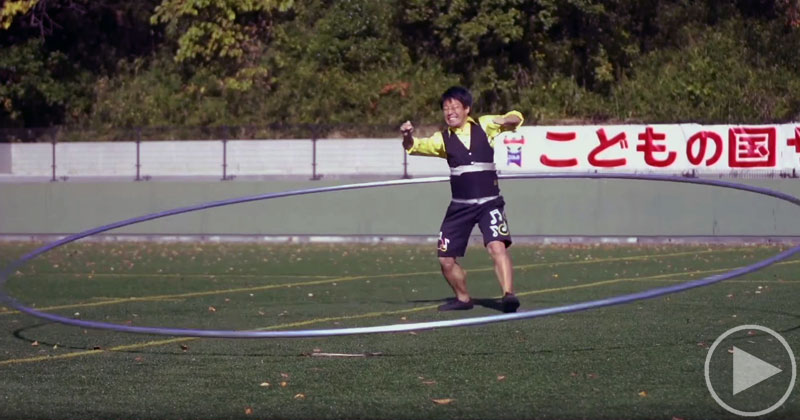 Just In Case You've Never Seen the World Record for Largest Hula HoopSpun
