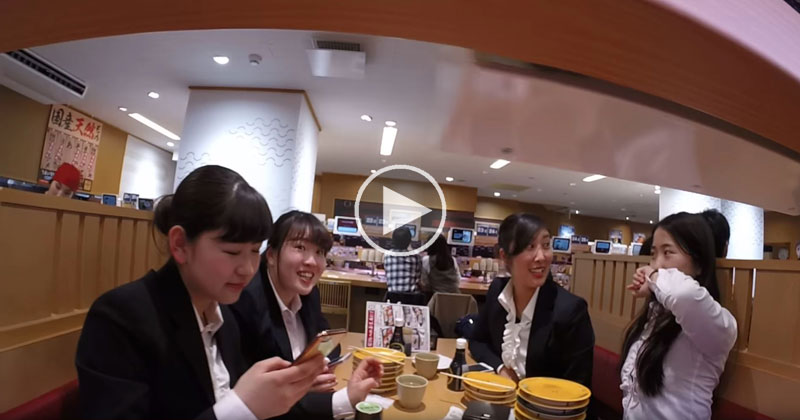 GoPro on Sushi Conveyor Belt Draws Full Gamut of Reactions