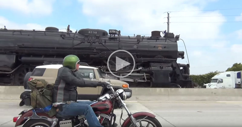 Just a 1920s Steam Engine Doing a Casual 55 MPH on theHighway