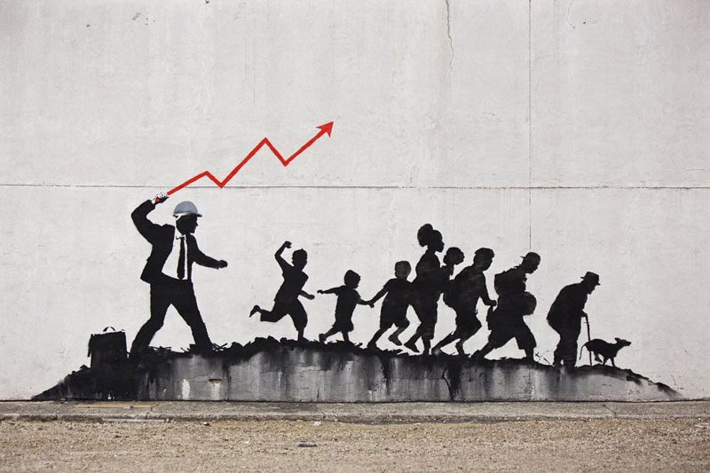 new banksy works in new york city 2018 1 New Banksys Appear in NYC, Including Giant Mural of Imprisoned Artist