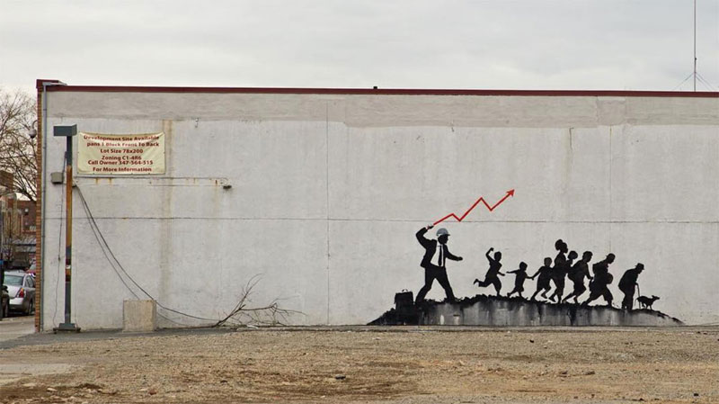 new banksy works in new york city 2018 8 New Banksys Appear in NYC, Including Giant Mural of Imprisoned Artist