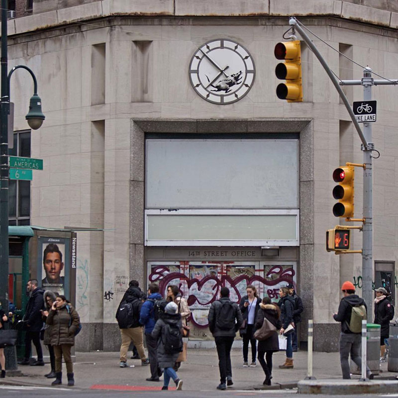 new banksy works in new york city 2018 9 New Banksys Appear in NYC, Including Giant Mural of Imprisoned Artist