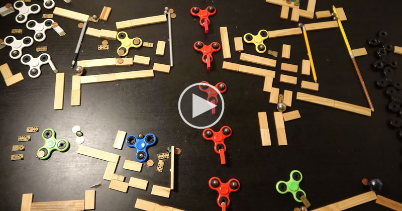 Rube Goldberg Fidget Spinner Memorial