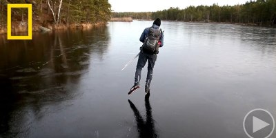 Skating on Thin Black Ice Makes a Sound Like You Won't Believe