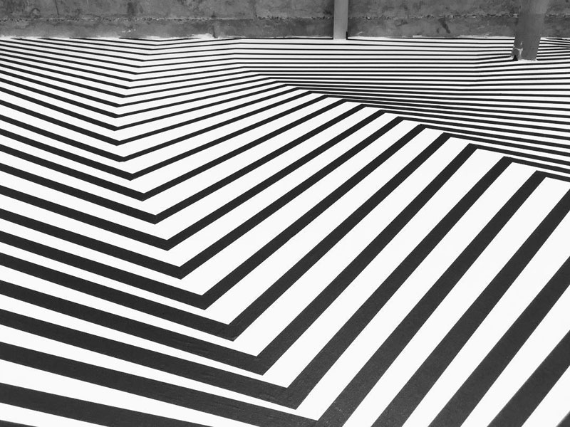 tape art installations by darel carey 8 Mesmerizing Tape Art Installations by Darel Carey